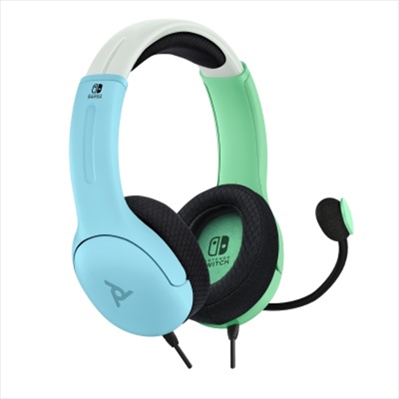 PDP Switch LVL 40 Wired Stereo Headset Dual Tone Blue/Green | Nintendo Switch