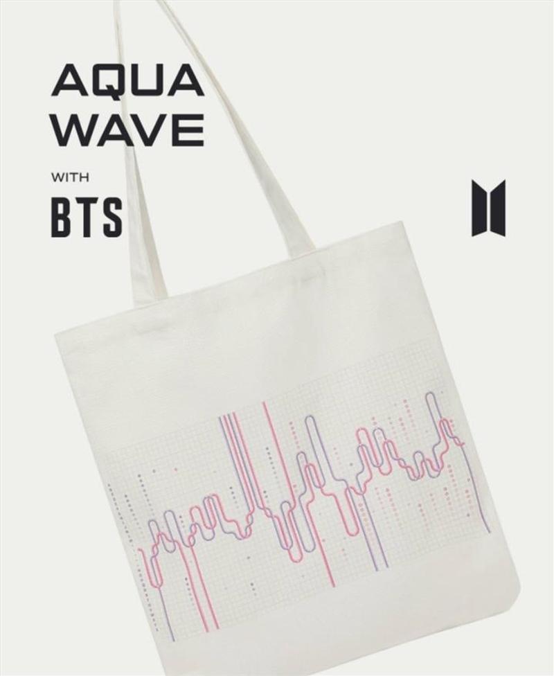 BTS - Aqua Wave Tote Bag | Merchandise