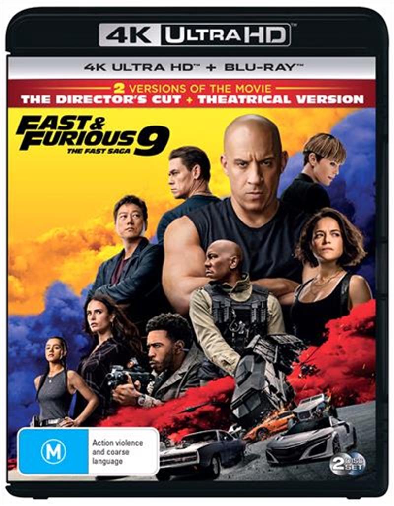 Fast and Furious 9 - The Fast Saga   Blu-ray + UHD   UHD