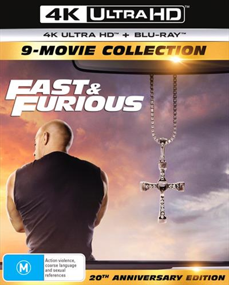 Fast and Furious 1-9 - Limited Edition   Blu-ray + UHD - 9 Movie Franchise Pack   UHD