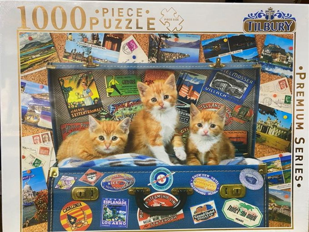 Kittens In Suitcase Comical Animals 1000 Piece Puzzle | Merchandise