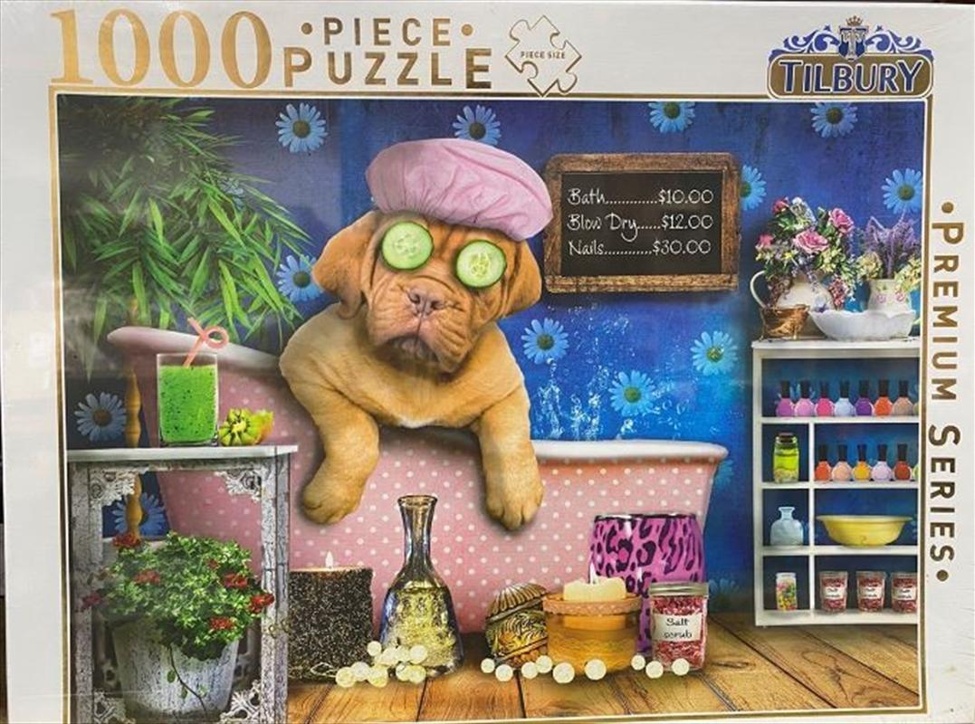 Puppy In Bath Comical Animals 1000 Piece Puzzle | Merchandise
