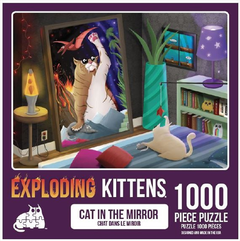 Cats In The Mirror 1000 Piece Puzzle   Merchandise