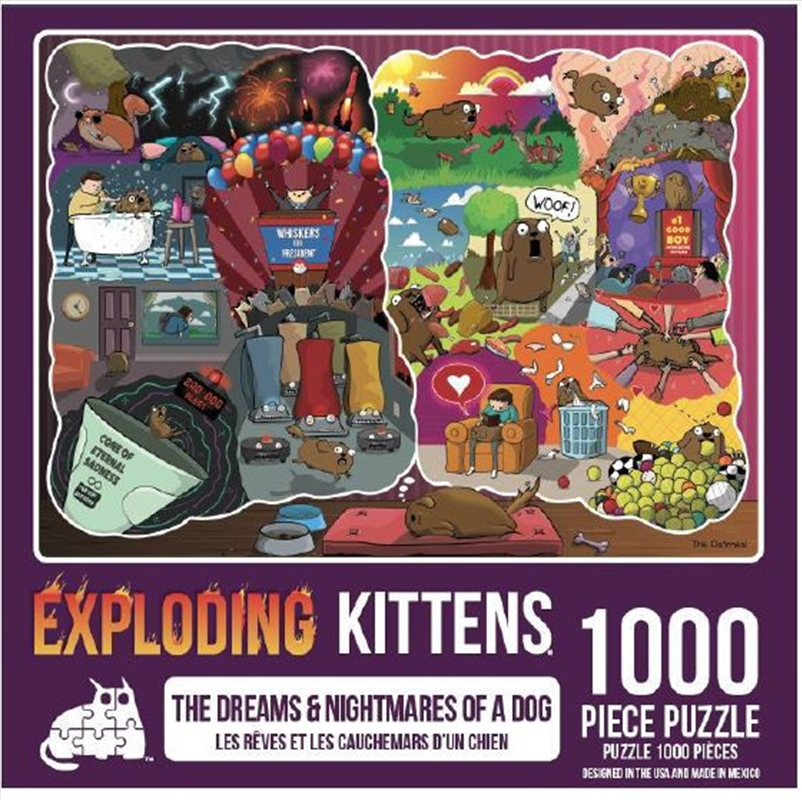Dreams And Nightmares Of A Dog 1000 Piece Puzzle   Merchandise