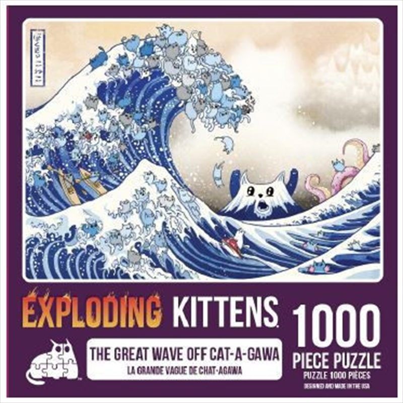 Great Wave Off Catagawa 1000 Piece Puzzle   Merchandise