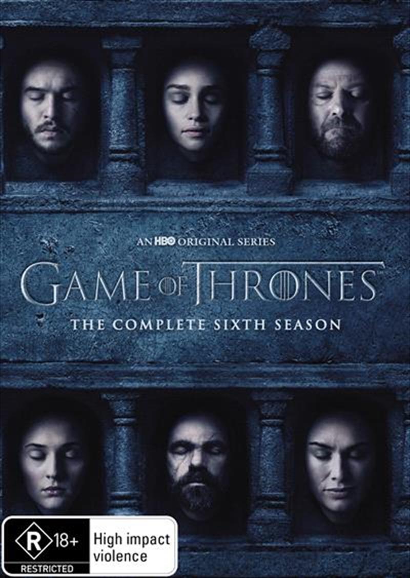 Game Of Thrones Season 6 Hbo Dvd Sanity