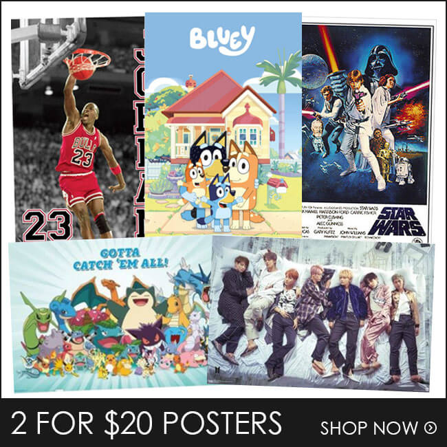 Shop 2 for $20 Posters & Merch