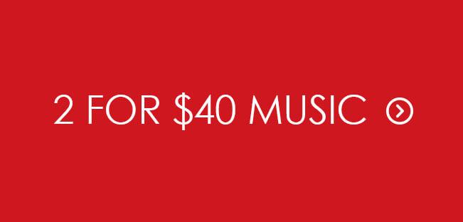Shop 2 for $40 CD & Vinyl