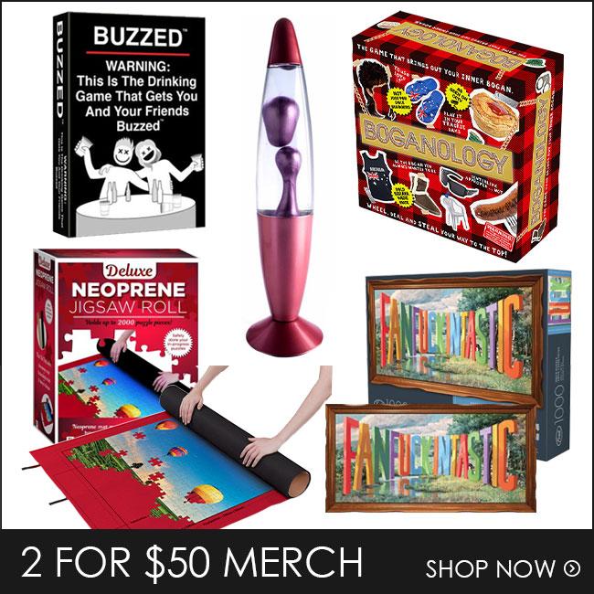 Shop 2 for $50 Puzzles & Merch