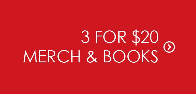 Shop 3 for $20 Merch & Books