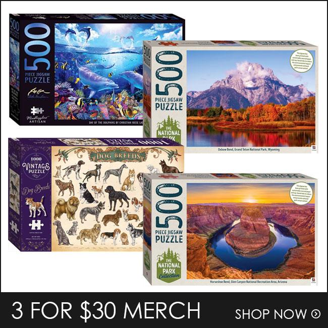 Shop 3 for $30 Puzzles & Merch