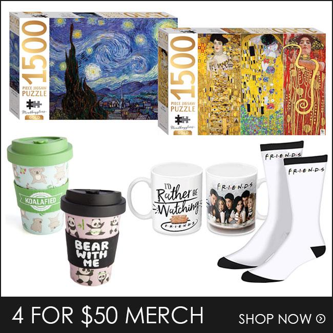Shop 4 for $50 Puzzles & Merch