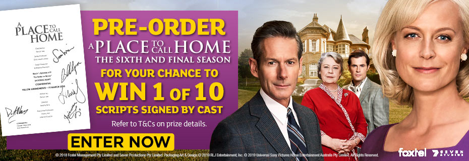 Win 1 of 10 A Place To Call Home Signed Scripts!