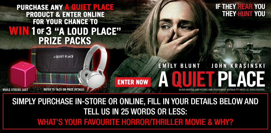 """Win 1 of 3 """"A Loud Place"""" Prize Packs"""