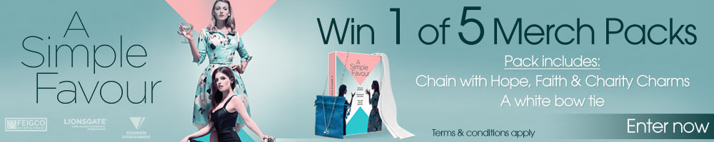 Win 1 Of 5 A Simple Favour Merch Packs