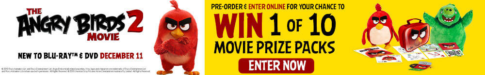 Win 1 of 10 Angry Birds 2 Movie Merch Packs
