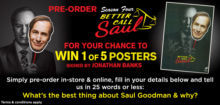 Win 1 Of 5 Better Call Saul Signed Posters