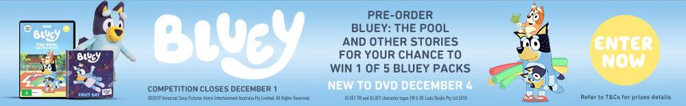 Win 1 Of 5 Bluey Merch Packs