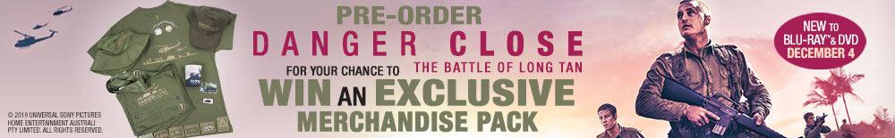Win A Danger Close Exclusive Merch Pack