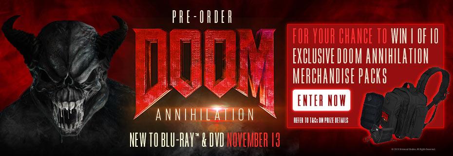 Win 1 Of 10 Doom Annihiliation Merch Packs