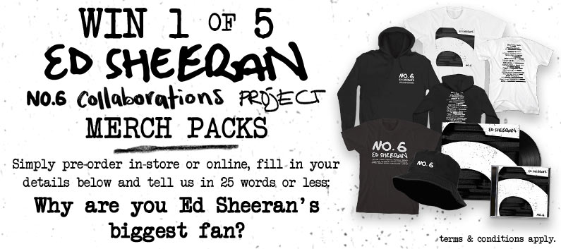 Win 1 of 5 Ed Sheeran Merch Packs