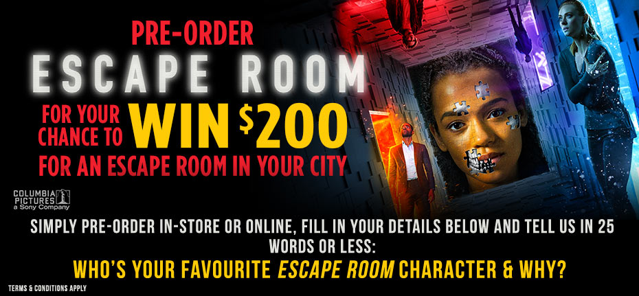 Win An Escape Room Experience!
