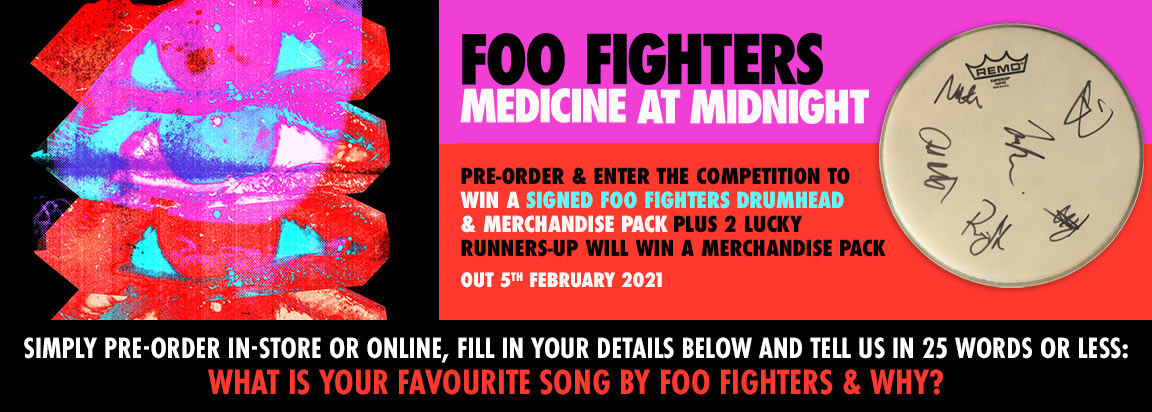 Win A Signed Foo Fighters Drumhead & Merch Pack