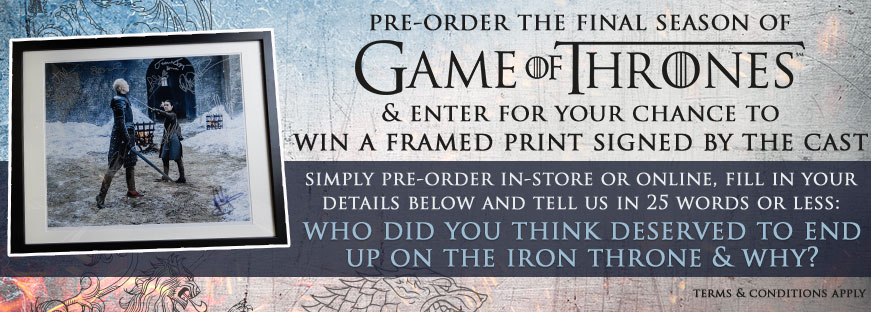 Win A Game Of Thrones Framed Print Signed By The Cast