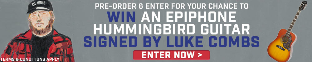 Win An Epiphone Hummingbird Guitar Signed By Luke Combs