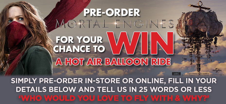 Pre-order & Enter For Your Chance To Win A Hot Air Balloon Ride