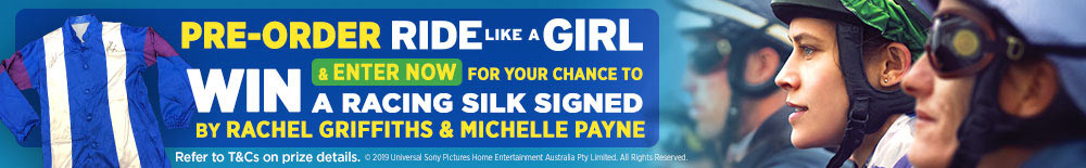 Win A Racing Silk Signed By Rachel Griffiths & Michelle Payne