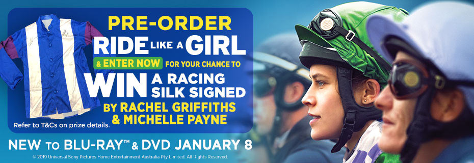 Pre-order & Enter To Win A Racing Silk Signed By Rachel Griffiths & Michelle Payne
