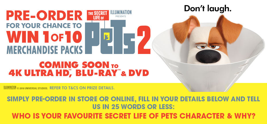Win 1 of 10 Secret Life Of Pets Merch Packs