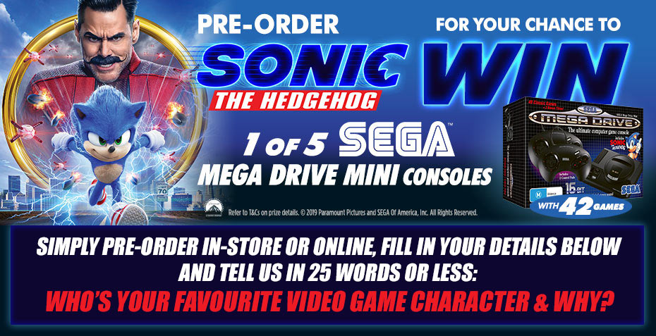 Win 1 of 5 Sega Mega Drive Mini Consoles