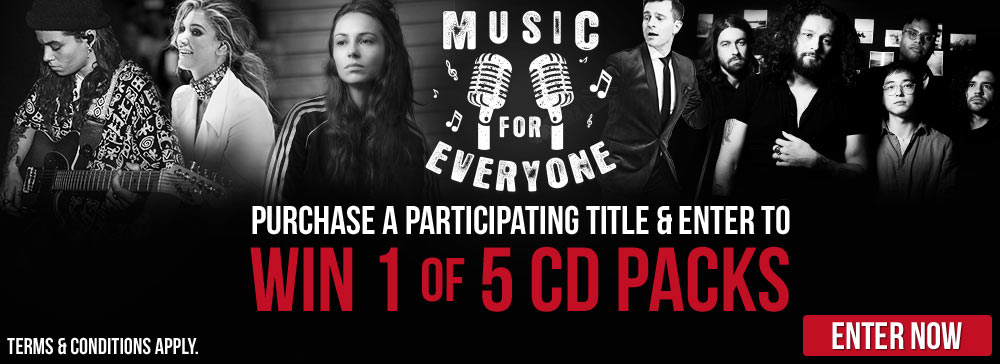 Win 1 Of 5 CD Packs