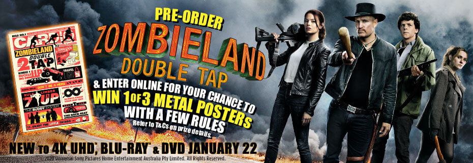 Pre-order & Enter To Win 1 Of 3 Zombieland Metal Posters